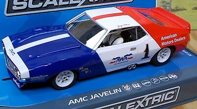 Scalextric 1/32 C3875 Amc Javelin, George Follmer, #1, Nib