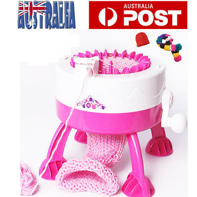 DIY Manual Hats Scarves Knitting Machine Toy With 2 Wool for Children Kids