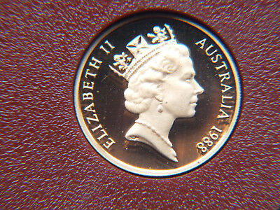 1988 Australian Proof 1 And 2 Cent Coins