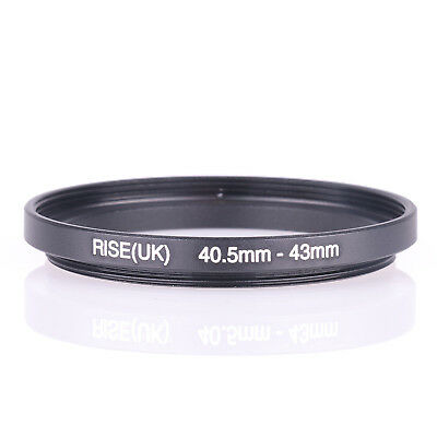 Metal 40.5mm-43mm 40.5-43 mm 40.5 to 43 Step Up Lens Filter Ring Adapter Black