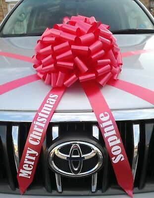 Large Bow for Cars + Personalised tails  Giant Gift Bow  ALL COLOURS