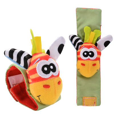 4pcs Baby Wrist Rattles Hands Foots finders Infant Toy Education soft fabric