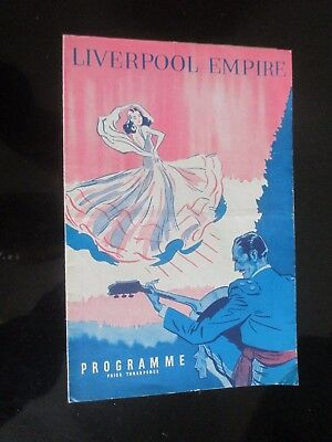 1949 Liverpool Empire Variety Show Jimmy Jewel Theatre Programme
