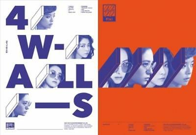 F(X) [4 WALLS] 4th Album Random Cover CD+Photo Book+Photo Card FX K-POP SEALED
