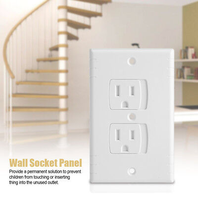 4x Baby Safety Self-closing Sliding Electrical Outlet Covers Wall Socket Panel Z