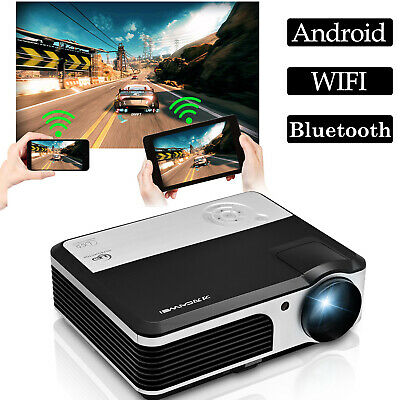 Android Wifi LCD Home Theater Projector DVB-T Digital TV HDMI USB VGA 1080p HD