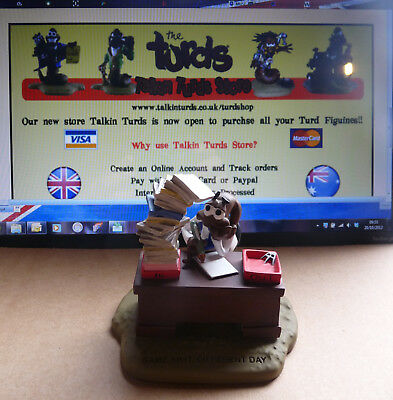 The Turds figurine Same Sh*t, Different Day -  Fun Office Gift Idea,