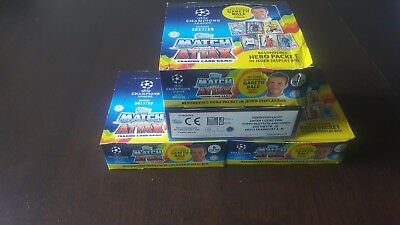 Topps UEFA Champions League 2017/2018 Trading Cards 4 Display´s 96 Booster