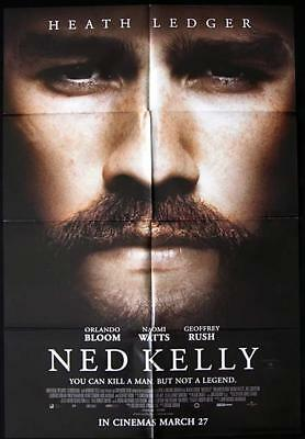 NED KELLY Heath Ledger Movie Poster Australian One sheet