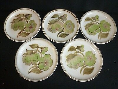 DENBY STONEWARE - TROUBADOR PATTERN - 5 x TEA / SIDE PLATES 6.5""