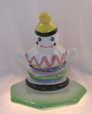 """Vintage Clown Kitchen Canister LID ONLY - 6.5"""" x 5"""" - REPLACEMENT LID / CAKE TOP"""