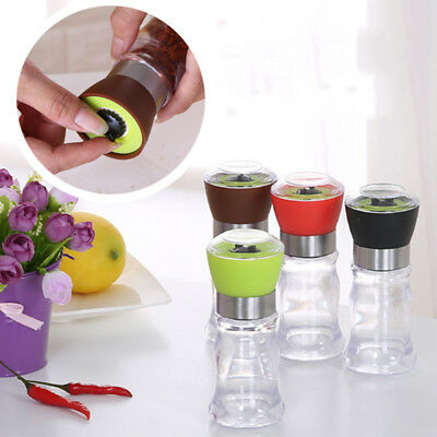 1Pc Simple Manual Stainless Steel Salt Pepper Mill Grinder Muller Kitchen Tools
