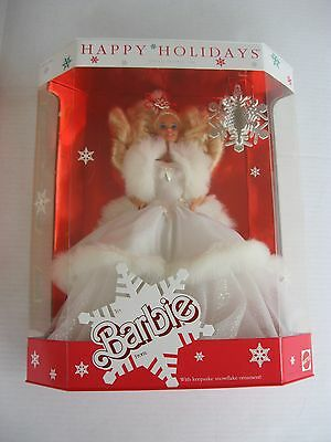 1989 Holiday Barbie Special Edition with Snowflake Ornament NRFB