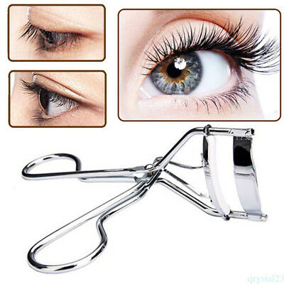 Eye Eyelash Curler With One Silicone Rubber Pad Makeup Tool