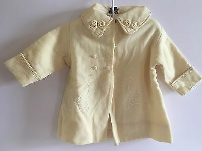 Vintage Pacific Mills 100% Wool Tagged Lined Girls Toddlers Dress Coat