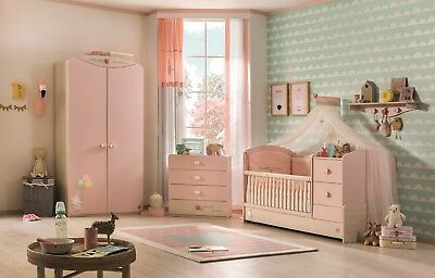 babyzimmer komplett set blau kinderzimmer junge inkl. Black Bedroom Furniture Sets. Home Design Ideas