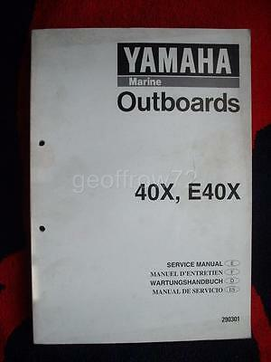 Genuine Yamaha 40X E40X Outboard Service Workshop Manual 1997 XMH XWH XWT XW MH