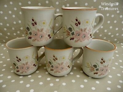 5 Boots 'Hedge Rose' Mugs - Fab Condition