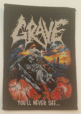 Grave Patch You'll Never See Death Autopsy Bolt Thrower Obituary Aufnäher