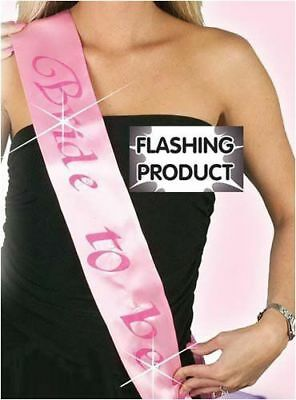Hen Party: Flashing Sash Bride To Be Party Accessories Girls Night Out