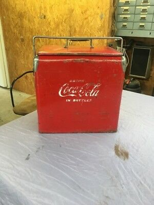 Vintage Coca Cola Cooler Ice Chest w/ Bottle Opener,  Acton Mfg
