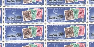 Togo Three MNH Sheets of 1963 65th Anniversary of Togo Stamps