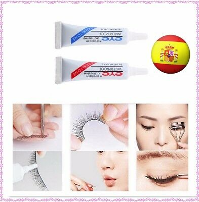Pegamento para pestañas postizas color transparente negro false glue eyelashes
