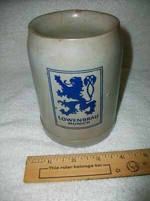 Lowenbrau Munich - Stoneware Beer Stein / Mug - Germany