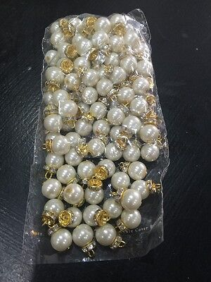 100 Pearl Beads / Designer Clothes Pakistani Indian Art And Craft Accessories