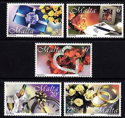 Malta 2000 Greetings Stamps Complete Set SG 1161 - 1165 Unmounted Mint