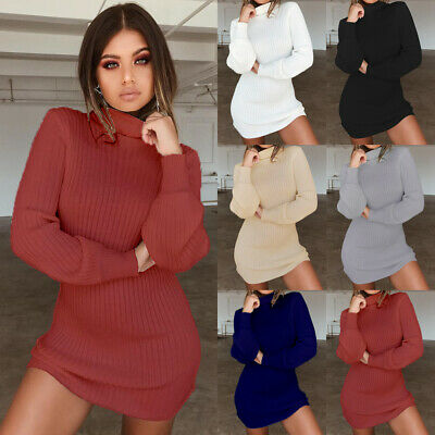 UK Womens Warm Long Sleeve Blouse Sweater Ladies Sweatshirt Jumper Pullover Tops