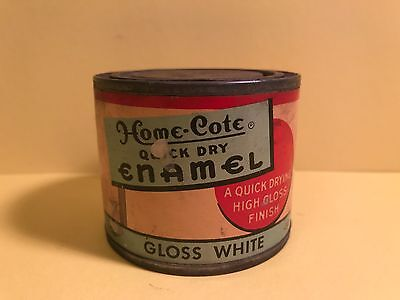 VINTAGE HOME-COTE  ENAMEL PAINT CAN 4 oz  PAPER LABEL NICE A MUST SEE