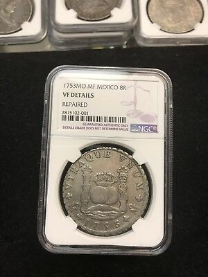 1753 MO MF Mexico 8R Reales Pillar Dollar: NGC VF Details GOING TO SELL FAST!!!