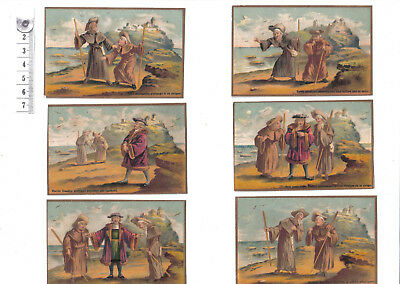 Vintage French Cards x6.Perrin Dandin.c1880-1900