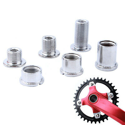 5 Pairs Bicycle Bike Single/Double Crankset Chainring Bolts Crank Screws Nuts
