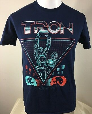 Disney TRON Youth T-Shirt Size Large ( Adult Small) ** SEE MEASUREMENTS **