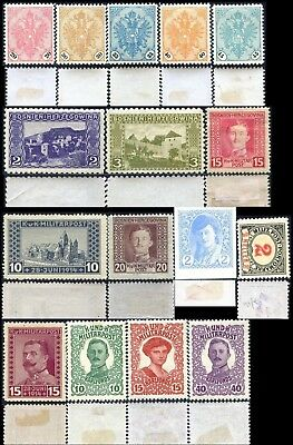 BOSNIE/BOSNIA/BOSNIEN lot 16 timbres/stamps 1901-1917  Neuf*/MH