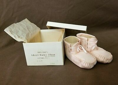 Vintage Pink Baby Shoes NOS in Box! Mrs. Day's Ideal Baby Shoes Booties