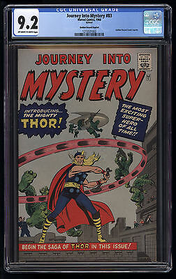 Journey into Mystery (1966) #83 CGC 9.2 OW/W Pgs Thor Golden Record Reprint Blue