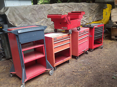 Lot de 7 servantes FACOM & SAM outillage Atelier Garage Tracteur