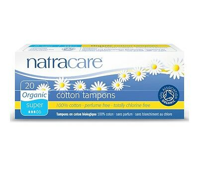 NATRACARE ORGANIC COTTON TAMPONS - SUPER - PERFUME / CHLORINE FREE x 2