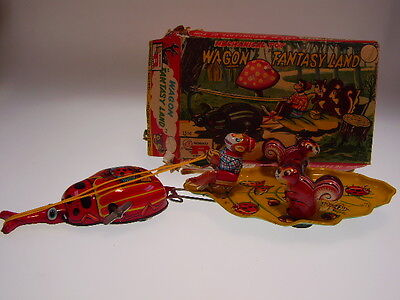 "TPS "" WAGON FANTASY LAND"" 29cm,UHRWERK/WIND UP OK, NEUWERTIG/LIKE NEW IN BAD BOX"