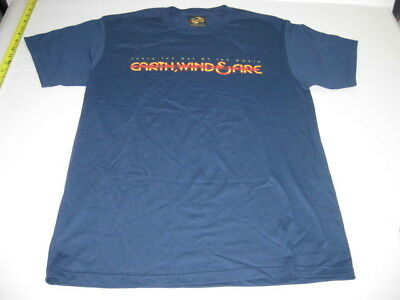 Earth, Wind & Fire T-shirt, size M Medium and blue, pre-owned, good condition