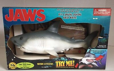 Brand New Collectible Jaws Singing & Dancing Motion Activated Great White Shark