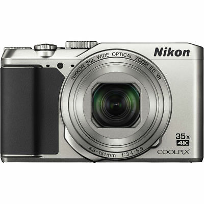 Nikon COOLPIX A900 20MP Digital Camera with 35x Optical Zoom, Bluetooth - Silver