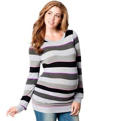 MOTHERHOOD Maternity Size S Womens Striped Sweater NWT