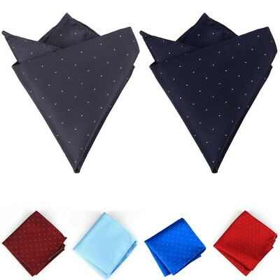 Gift Men Polka Dot Handkerchief Silk Pocket Square Hanky Multi Party Hankies