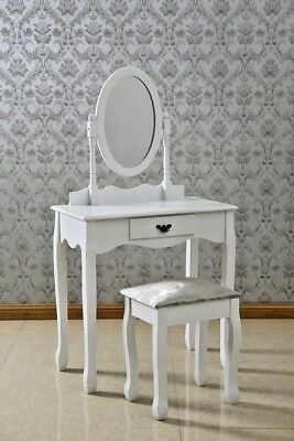 Emily Dressing Table with Mirror & Stool
