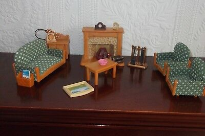 Sylvanian families country living room set with figures Sylvanian families luxury living room set