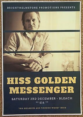 HISS GOLDEN MESSENGER 2016 Gig POSTER Brighton Concert United Kingdom